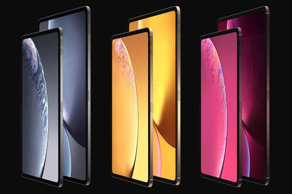 iPad Design Final 1 1000x663 Des rendus nous montrent le design des iPad Pro de 2018