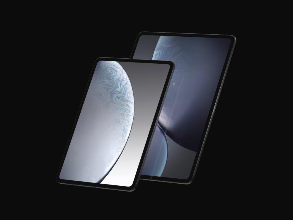 iPad Design Final 2 1000x750 Des rendus nous montrent le design des iPad Pro de 2018