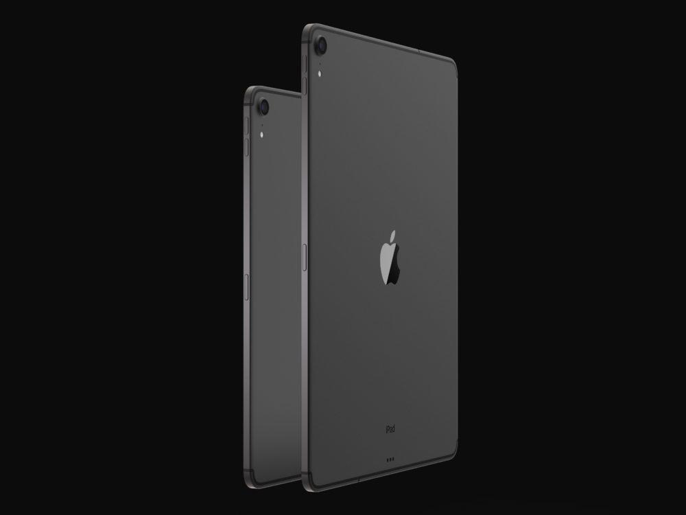iPad Design Final 3 1000x750 Des rendus nous montrent le design des iPad Pro de 2018