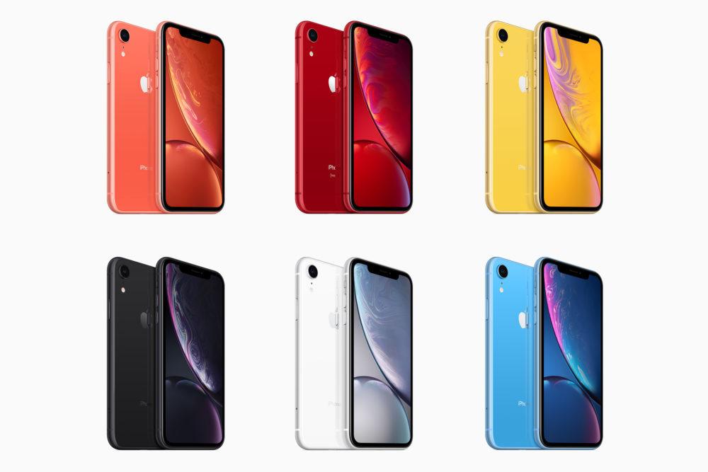iPhone XR 6 Couleurs 1000x667 Les frais de réparation de l'iPhone XR sont annoncés par Apple