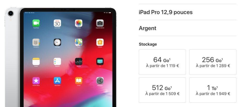 ipad pro 12 9 prix 1000x447 iPad Pro 2018 présenté par Apple : USB C, pas de bouton Home, écran borderless