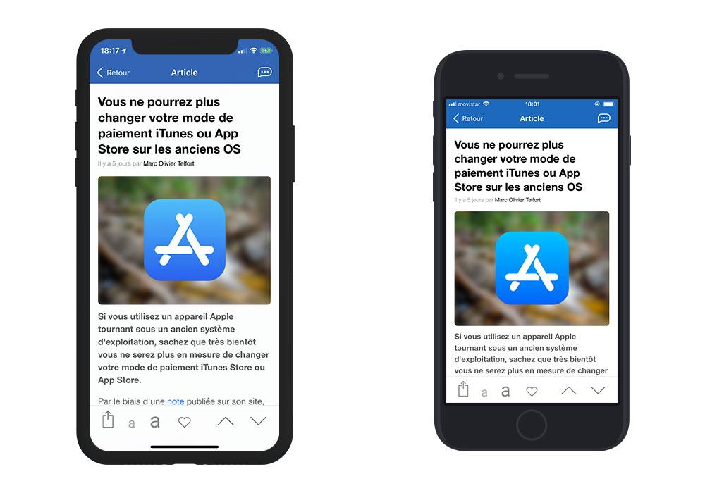 iphonex iphone8 2 App4Phone.fr 6.0 est disponible : compatible iOS 12, nouveau design et plus