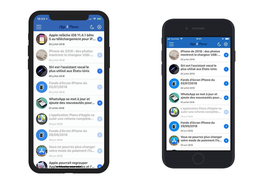 iphonex iphone8 App4Phone.fr 6.0 est disponible : compatible iOS 12, nouveau design et plus