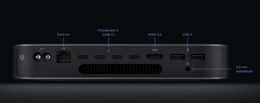 mac mini 2018 ports hmdi usb Mac mini 2018 : caractéristiques, prix et date de disponibilité