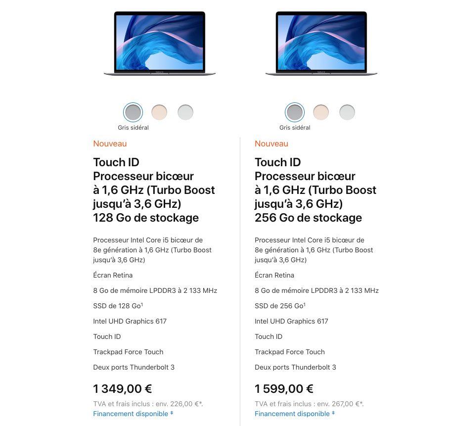 macbook air retina 2018 prix Apple annonce le nouveau MacBook Air 2018 : écran Retina, USB C, Touch ID et plus