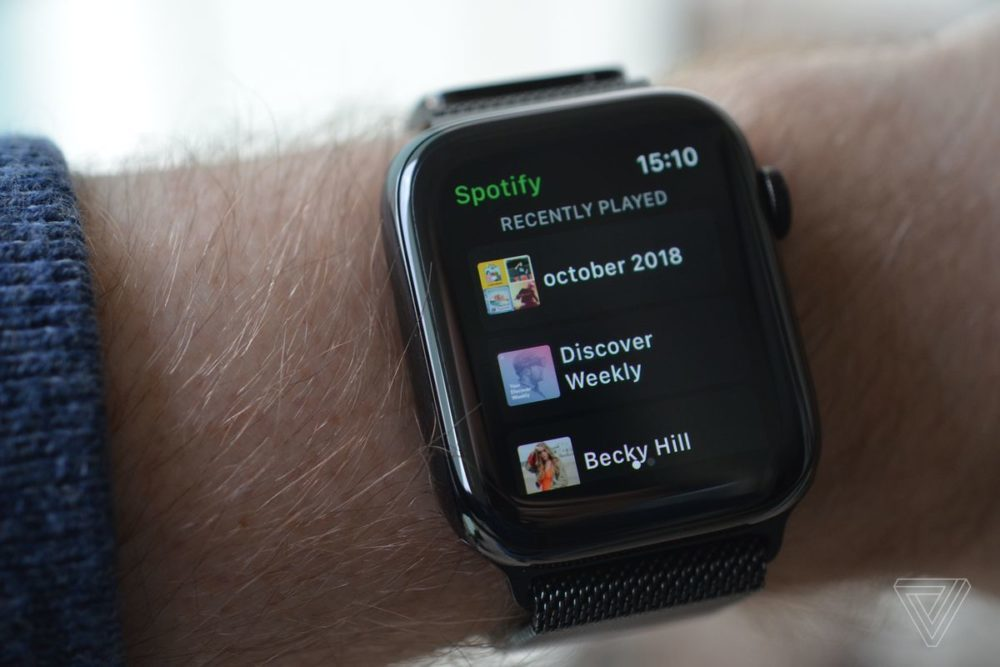 Lapplication Spotify pour Apple Watch est désormais disponible