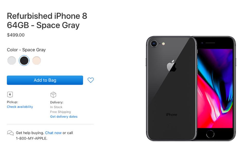 Apple iPhone 8 Refurbished 1000x645 Apple vend désormais des iPhone 8 et 8 Plus reconditionnés aux États Unis