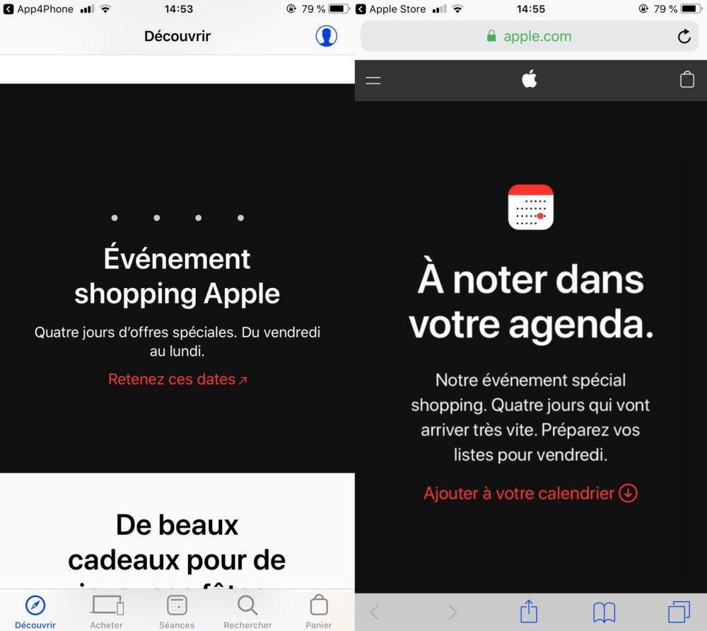 Black Friday Cyber Monday Apple 1000x892 Black Friday et Cyber Monday : Apple va organiser 4 jours d'offres spéciales (23 au 26 novembre)