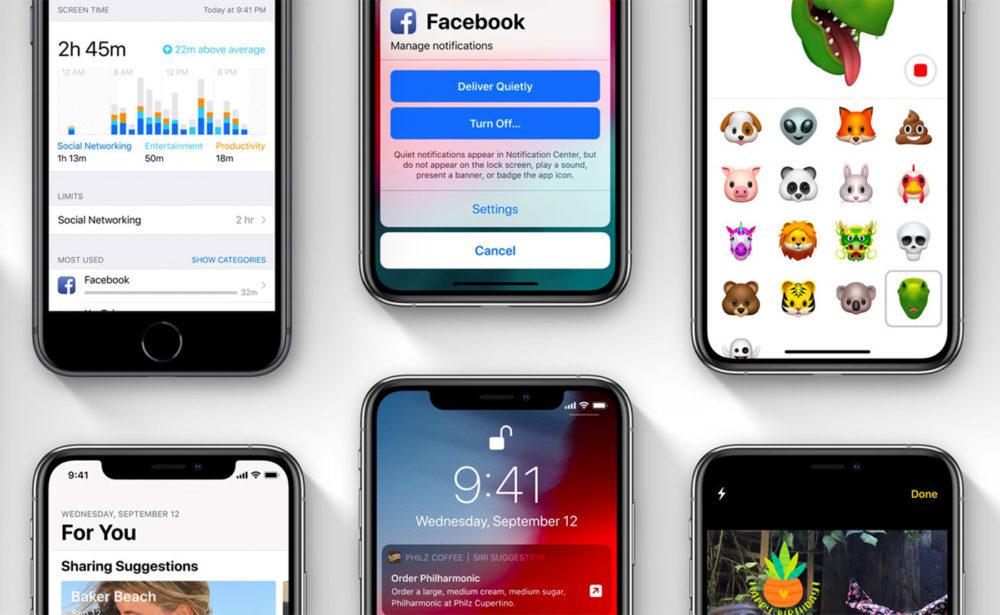 iOS 12 sur iPhone 1000x615 iOS 12.1.1 version finale est disponible au téléchargement