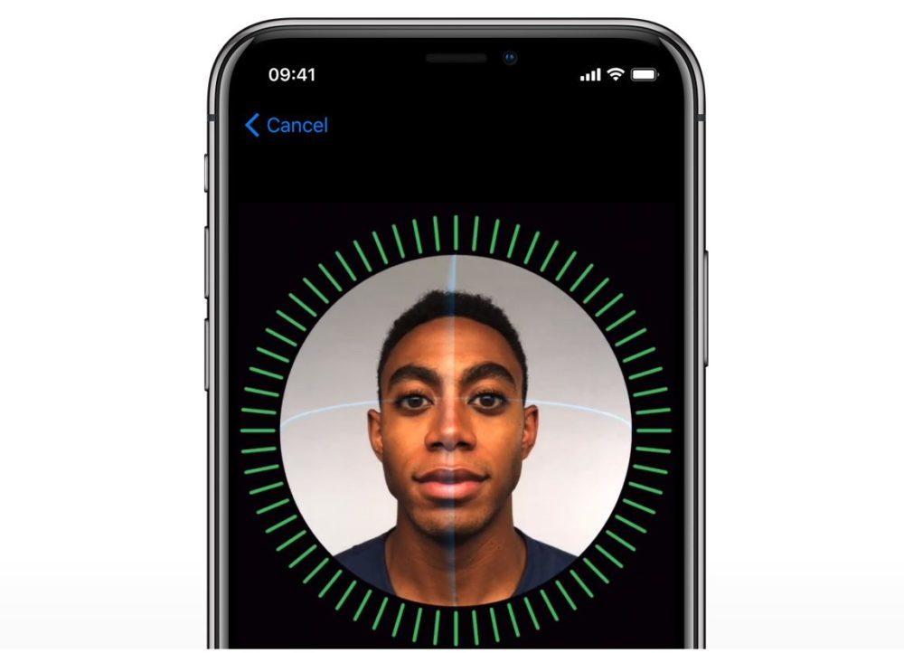 iPhone X Apple Face ID 1000x722 Face ID ferait son arrivée sous lécran dès 2023 avec liPhone 15
