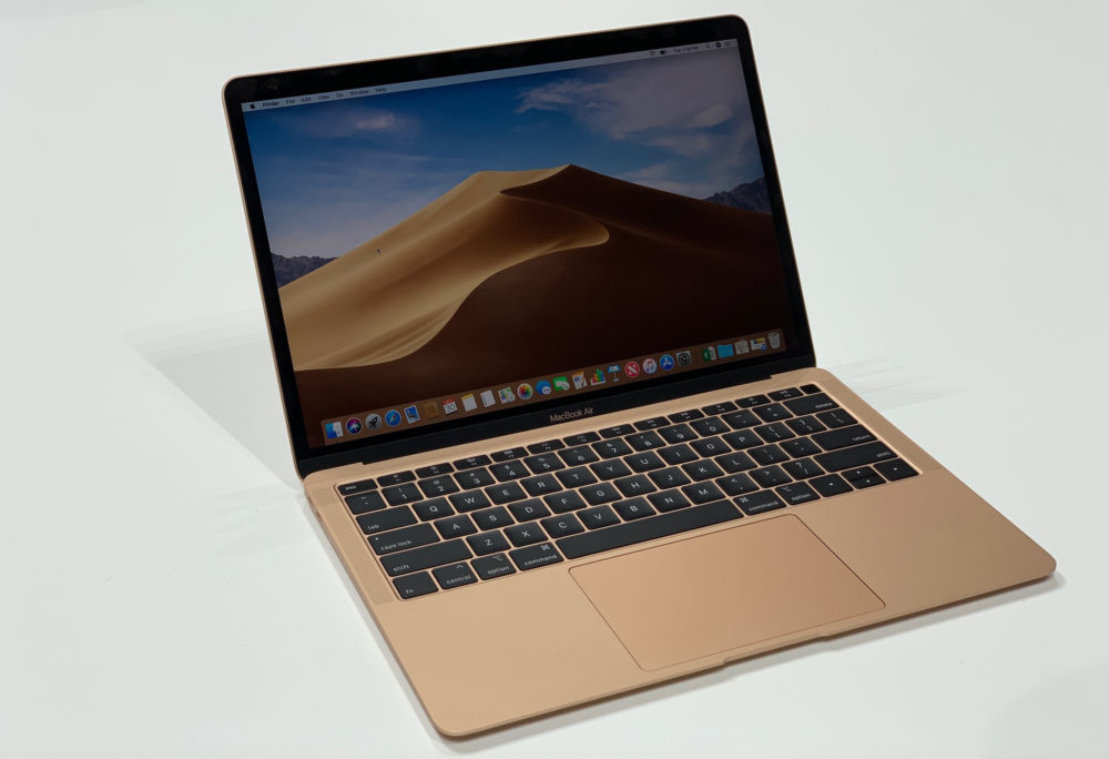 Une mise à jour spéciale de macOS 10.14.1 pour le MacBook Air 2018 est disponible