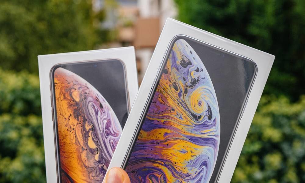 iPhone XS Max Boite 1000x600 Ils poursuivent Apple en justice à cause de limage sur la boîte des iPhone XS qui dissimule lencoche