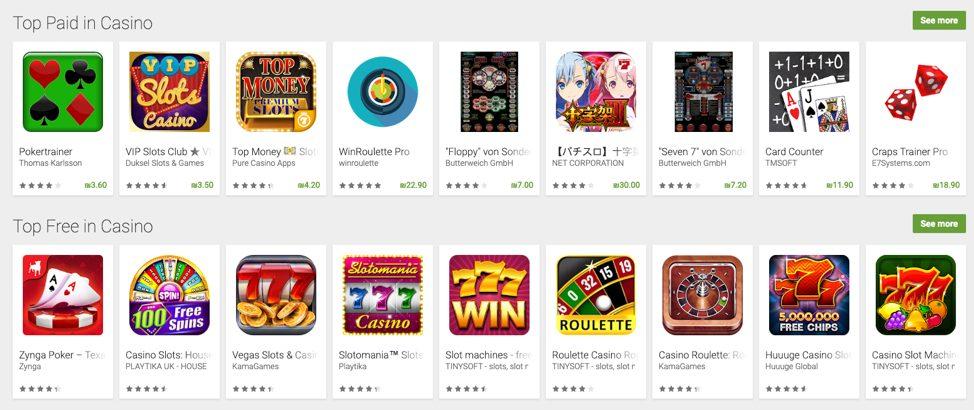 1 Les 4 meilleures applications de casinos gratuits à télécharger en 2019