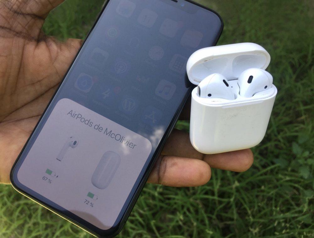 App4Phone AirPods iPhone X 1000x760 Recharge sans fil des AirPods 2 en 15 minutes et mode nuit avec iOS 13.1 ?