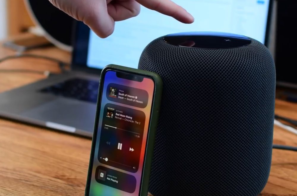 Apple HomePod iPhone X 1000x659 HomePod : 1,6 million d'unités vendues et une part de marché de 4,1% (fin 2018)