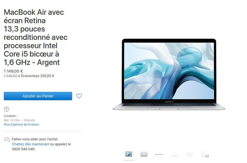MacBook Air 2018 Reconditionne 1000x658 Apple propose à la vente des Mac mini et MacBook Air 2018 reconditionnés