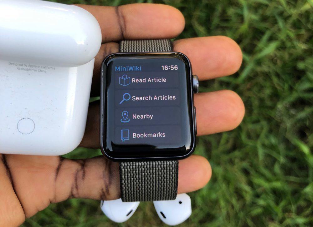 MiniWiki Apple Watch 1000x727 MiniWiki sur Apple Watch : Wikipedia désormais à votre poignet