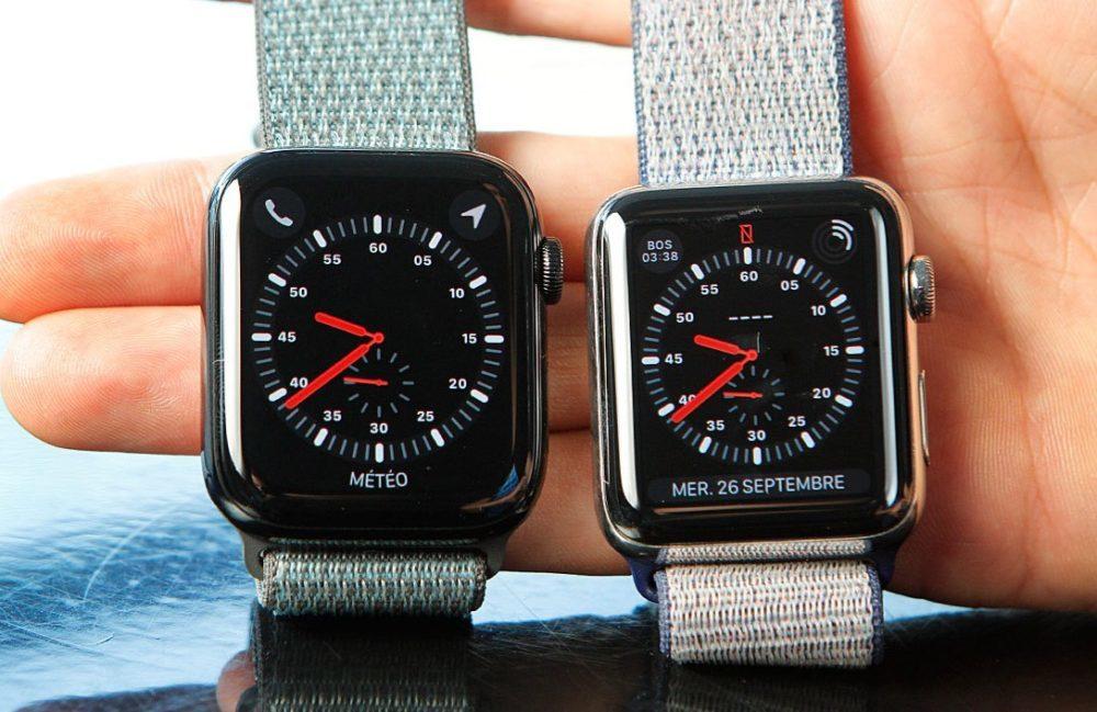 apple watch series 4 series 3 1000x649 LApple Watch a dominé les ventes des montres connectées qui ont été de 61% en 2018