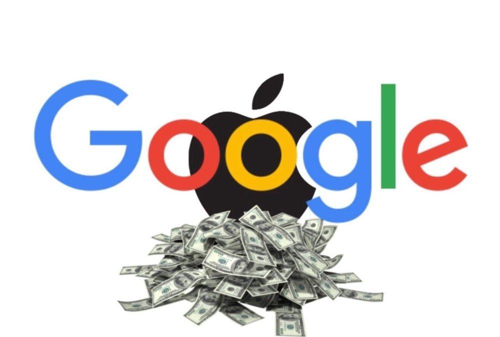 google apple somme moteur recherche 1000x675 Google a payé 9,5 milliards de $ à Apple pour rester le moteur de recherche par défaut sur iOS