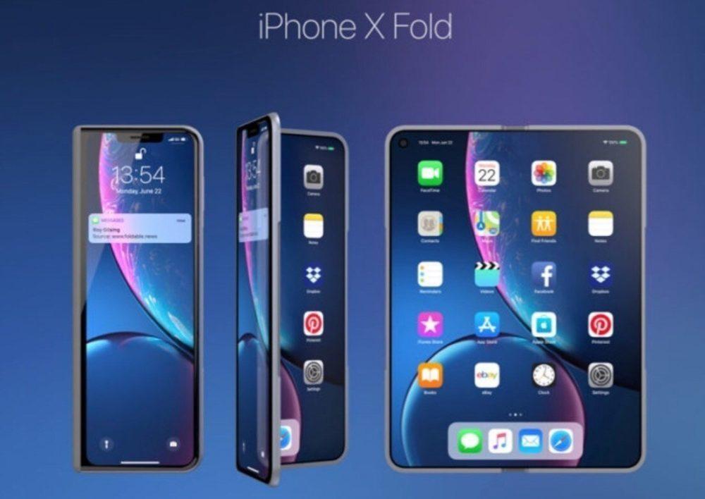 iPhone X Fold 1 1000x708 iPhone X Fold : un concept iPhone pliable au style du Galaxy Fold de Samsung