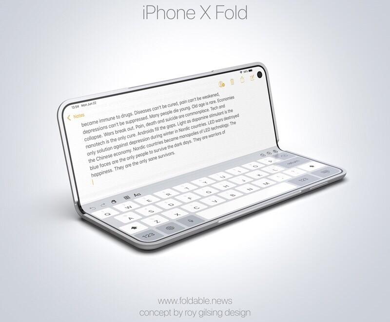 iPhone X Fold 2 iPhone X Fold : un concept iPhone pliable au style du Galaxy Fold de Samsung