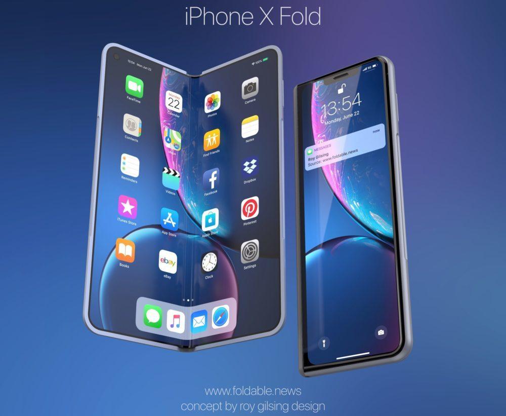 iPhone X Fold 3 1000x821 iPhone X Fold : un concept iPhone pliable au style du Galaxy Fold de Samsung