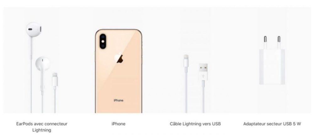 iPhone Xs Contenu de la Boite 1000x431 iPhone de 2019 : toujours le port Lightning ou ladoption du port USB C ?