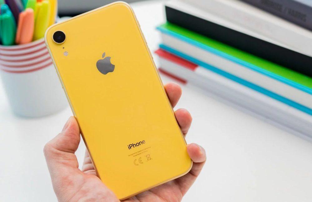 iphone xr jaune 1000x647 Apple a livré 14,6 millions diPhone en Amérique du Nord au premier trimestre de 2019