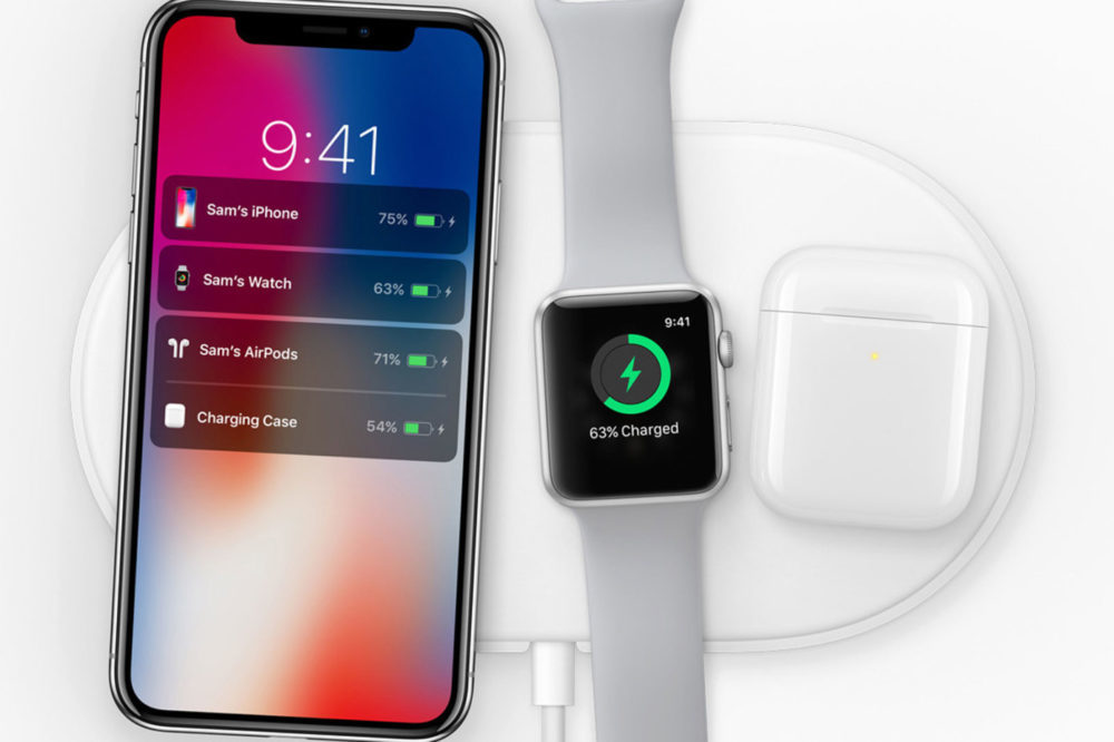 AirPower AirPods 2 iPhone X Apple Watch 1000x666 Un chargeur sans fil moins ambitieux que lAirPower serait dans les parages
