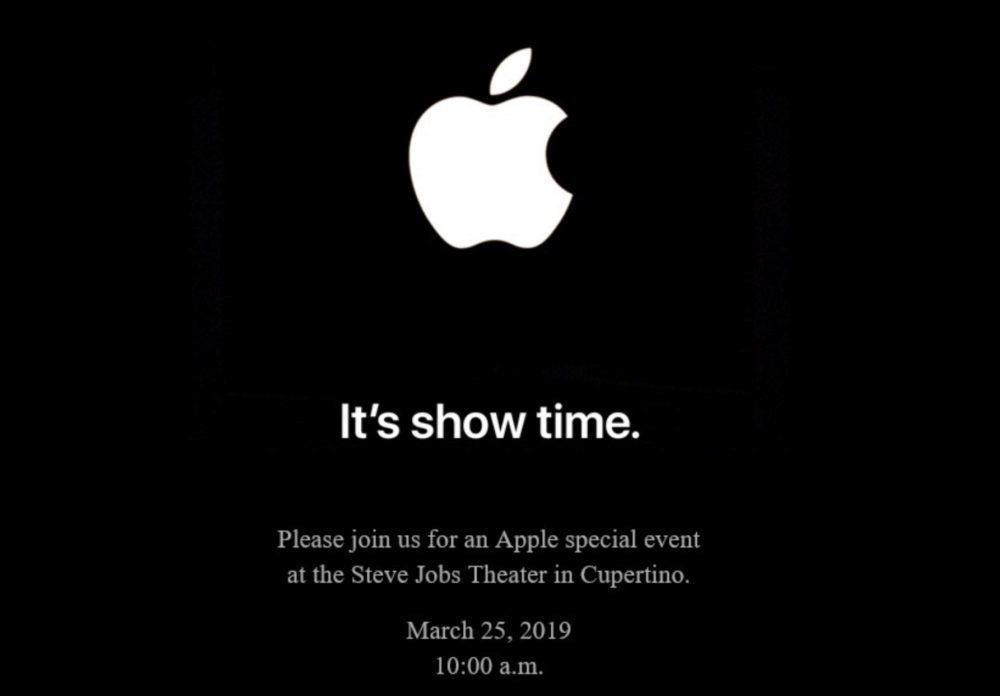 Keynote 25 Mars 2019 Apple Showtime 1000x696 Apple annonce une keynote pour le 25 mars prochain