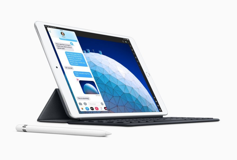 Nouvel iPad Air Smart Keyboard Apple Pencil 1000x676 iPad Air 10,5 pouces et iPad mini 5 dévoilés : A12 Bionic, Apple Pencil, prix et disponibilité