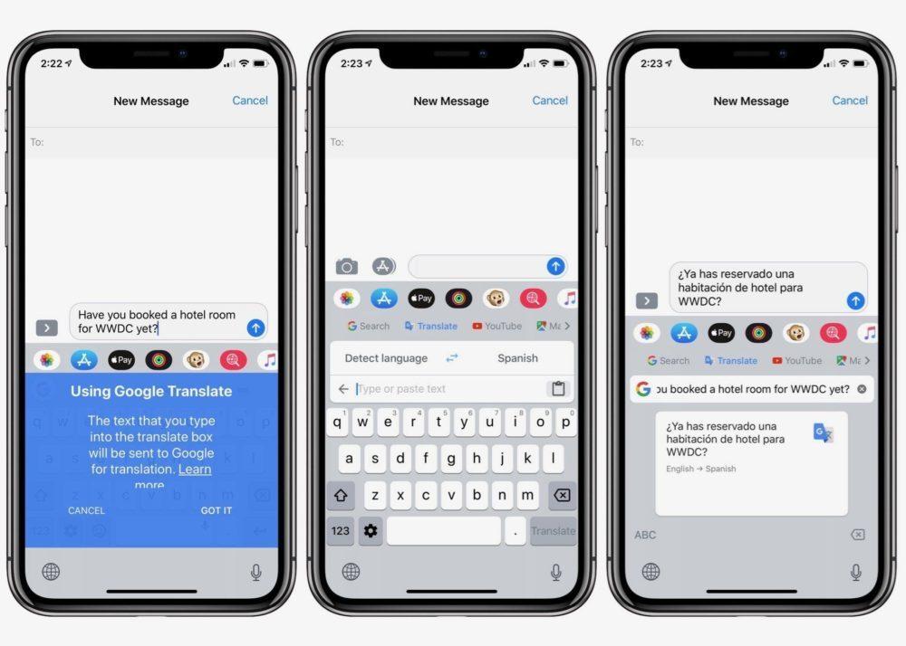 gboard traduction ios iphone 1000x714 Gbaord sur iOS ajoute une fonctionnalité de traduction très pratique et plus encore