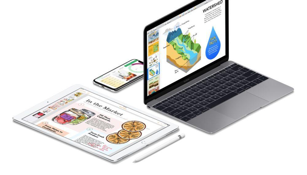 iWork Apple 1000x570 Apple met à jour sa suite bureautique (iWork) sur iOS et macOS : voici les nouveautés