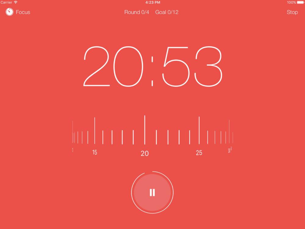 ipad application focuskeeper 20 applications iPad pour booster votre productivité