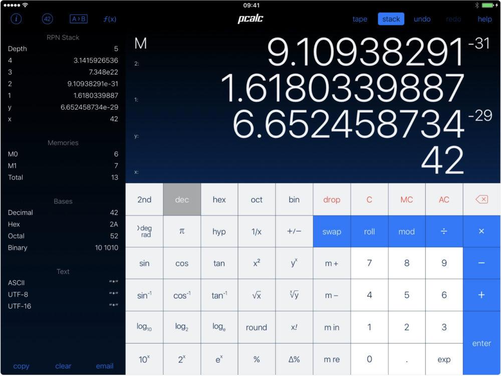 ipad application pcalc 20 applications iPad pour booster votre productivité