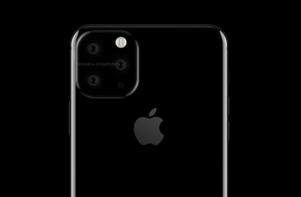 iphone XI 3 capteurs photo 1000x655 Un schéma corrobore lemplacement des 3 appareils photos des iPhone de 2019