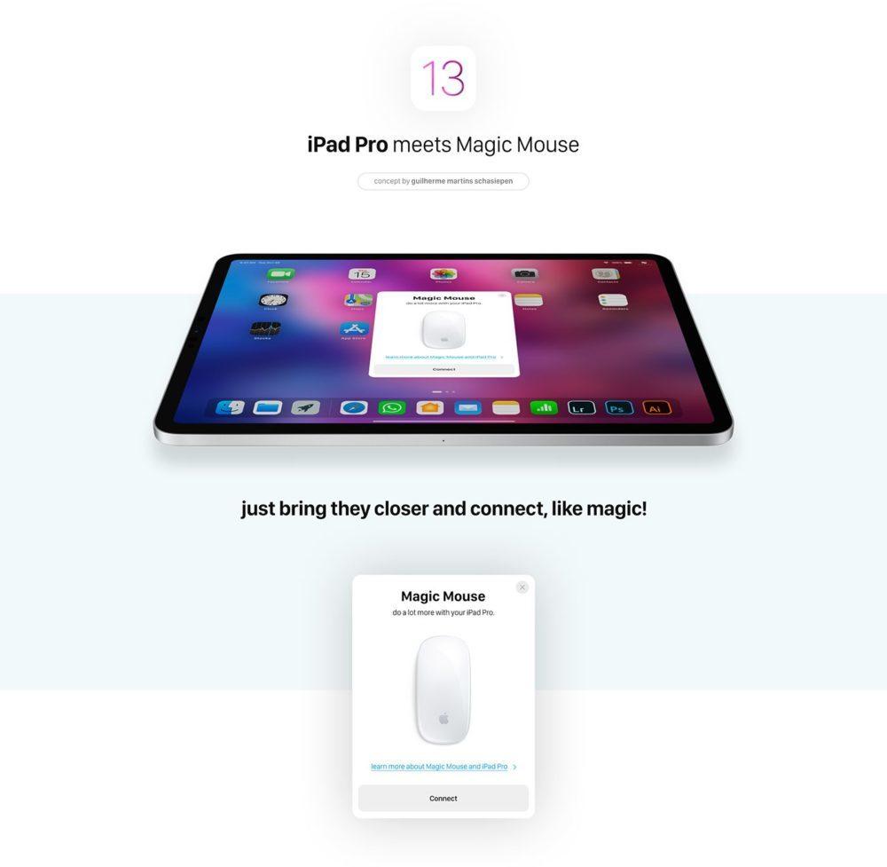 iOS 13 Concept Souris iPad 2 1000x977 Un concept iOS 13 invente un multitâche revu, le support de la souris sur iPad et plus encore