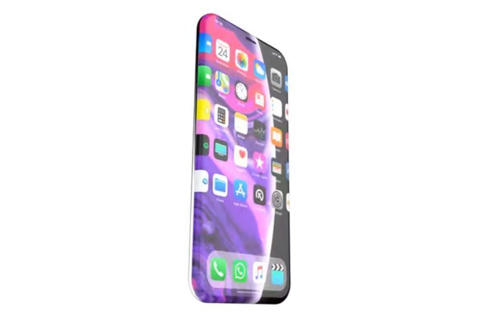 iPhone XII Concept 1000x653 Apple a reçu un brevet pour un iPhone avec une Touch Bar sur le côté