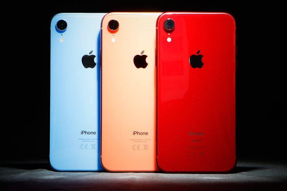 iPhone XR Rouge Bleu Corail 1000x667 Après la Chine, Apple décide de diminuer le prix de l'iPhone XR en Inde