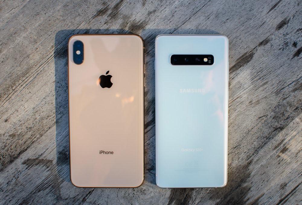 iPhone XS Galaxy S10 1000x679 LiPhone sest mieux vendu que les Galaxy et les autres smartphones au 1er trimestre aux États Unis