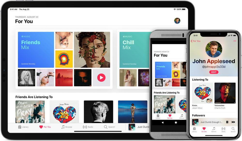 ios12 ipad pro 11 iphone x android apple music 1000x586 Apple Music : le prix de labonnement a subi une baisse en Inde