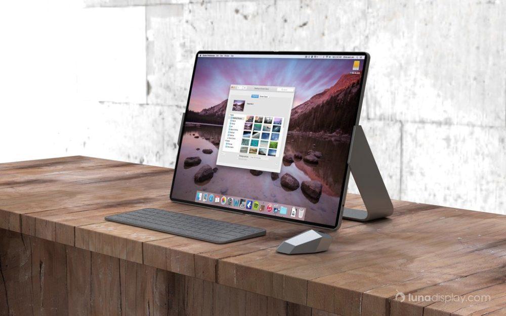 mac ipad pliable hybride 3 1000x625 Un concept montre un hybride iPad/Mac pliable avec le support de la souris