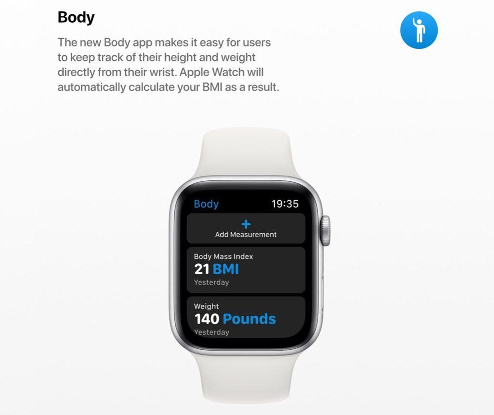 watchOS 6 Concept App Corps 1000x840 Un concept watchOS 6 qui imagine de nouveaux cadrans, de nouvelles applications et plus