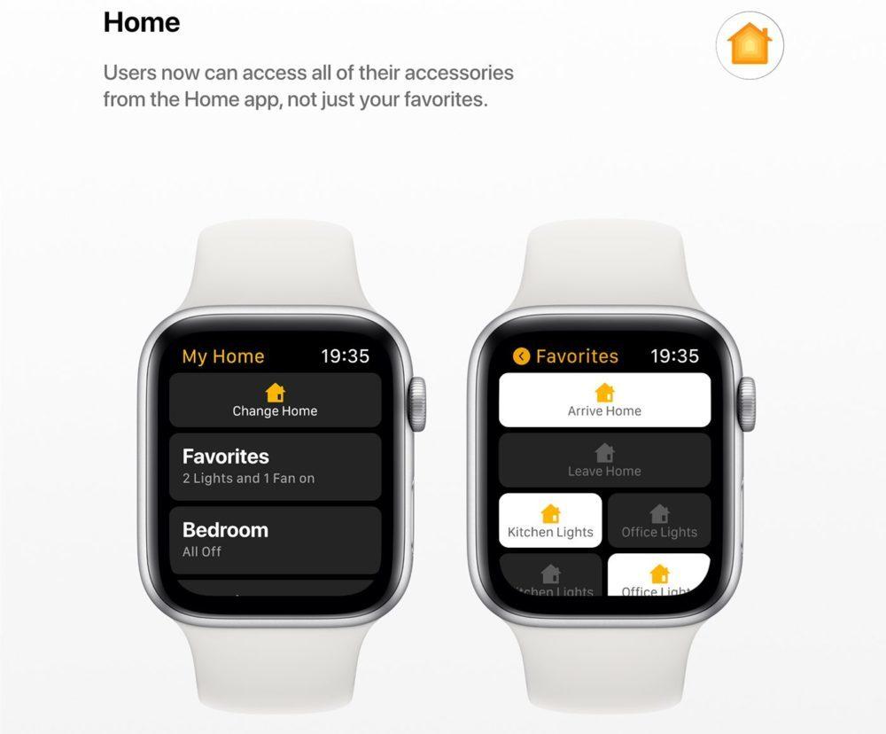 watchOS 6 Concept App Maison 1000x828 Un concept watchOS 6 qui imagine de nouveaux cadrans, de nouvelles applications et plus