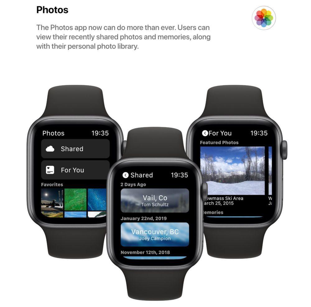 watchOS 6 Concept App Photos 1000x988 Un concept watchOS 6 qui imagine de nouveaux cadrans, de nouvelles applications et plus