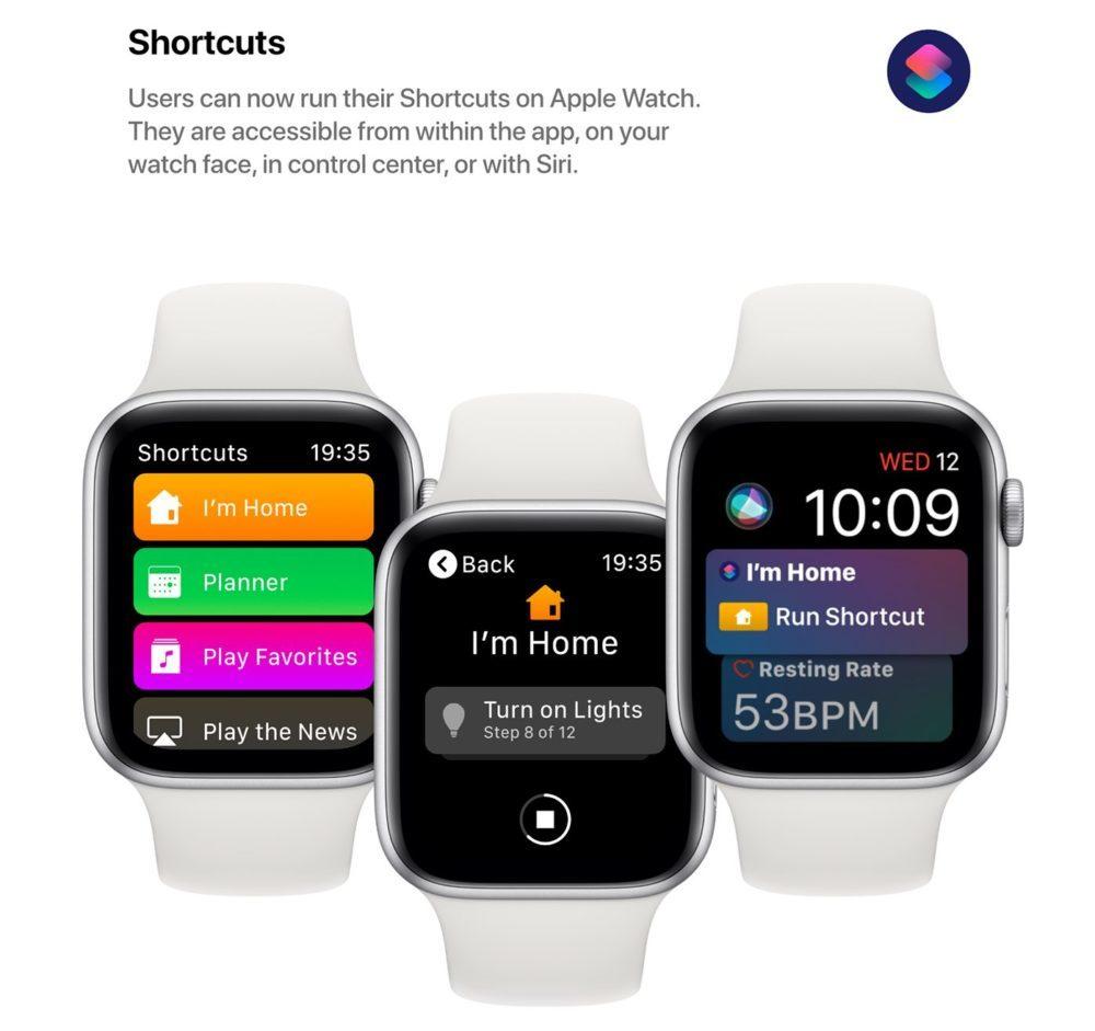 watchOS 6 Concept App Raccourcis 1000x941 Un concept watchOS 6 qui imagine de nouveaux cadrans, de nouvelles applications et plus