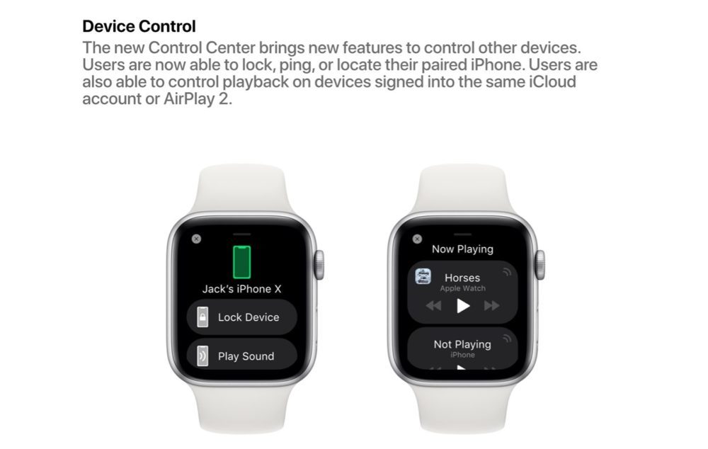 watchOS 6 Concept Control Appareils 1000x634 Un concept watchOS 6 qui imagine de nouveaux cadrans, de nouvelles applications et plus