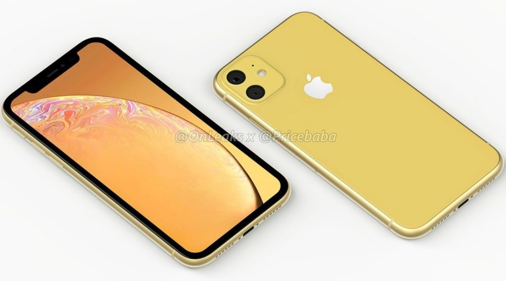 2019 iPhone XR 1000x556 iPhone XR 2019 : un leak montre un module photo carré avec deux capteurs au dos