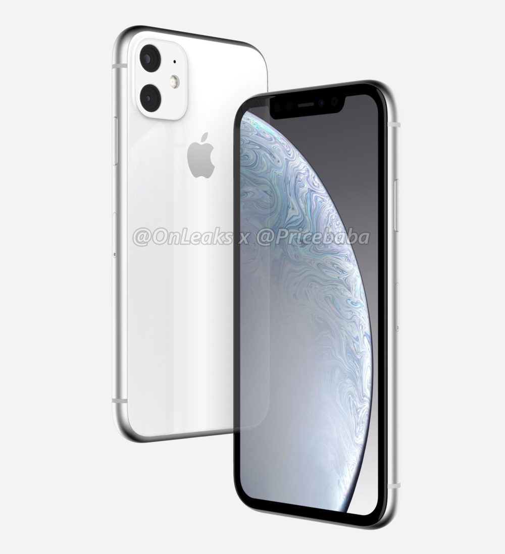 2019 iPhone XR 3 1000x1098 iPhone XR 2019 : un leak montre un module photo carré avec deux capteurs au dos