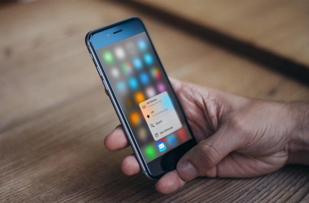 3d Touch iPhone 6s 1000x657 Les iPhone de 2019 ne seront pas équipés de 3D Touch, mais plutôt du Haptic Touch